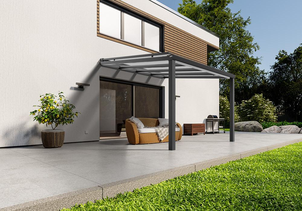 Shop Terassendach anthrazit glas aufdachmarkise 300 200 1 -