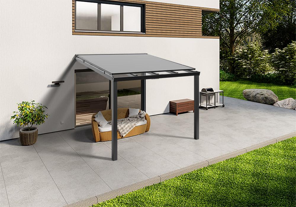 Shop Terassendach anthrazit glas aufdachmarkise 300 200 -