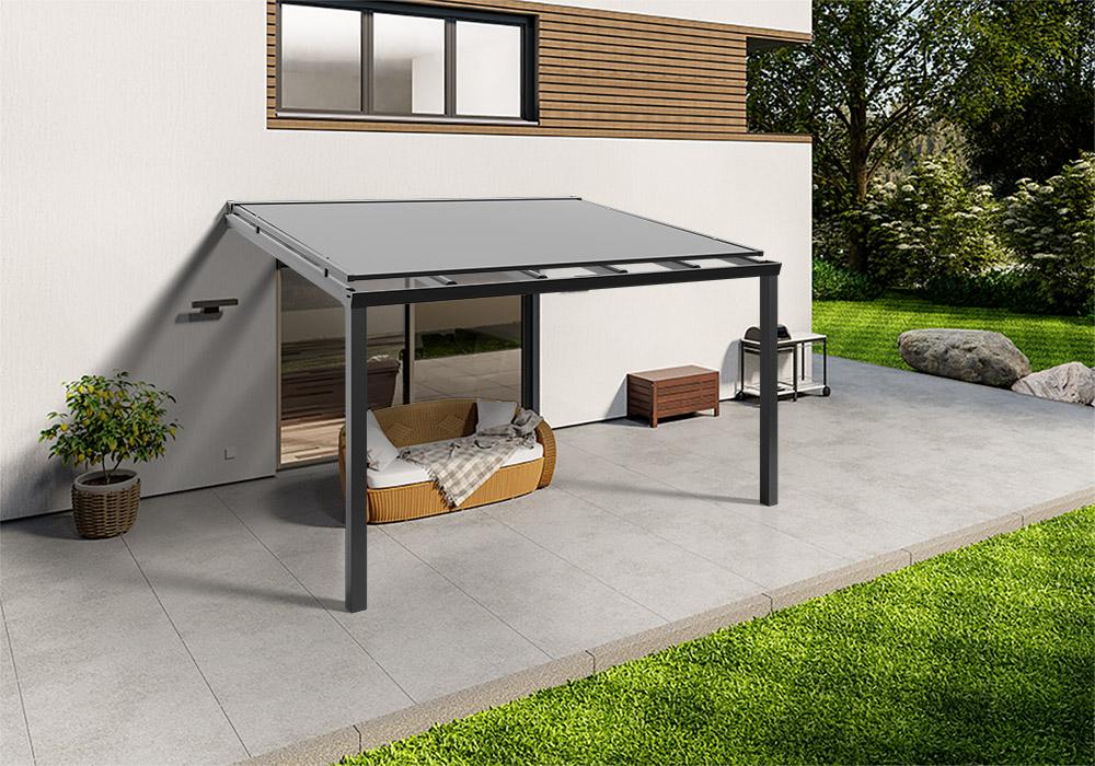 Shop Terassendach anthrazit glas aufdachmarkise 400 300 -