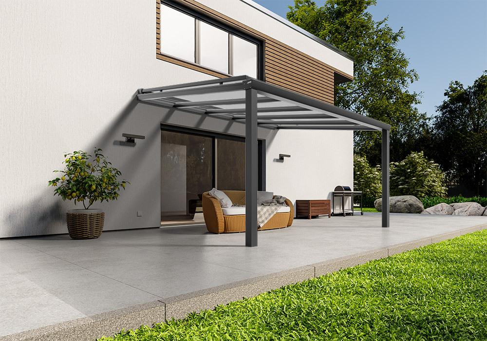 Shop Terassendach anthrazit glas aufdachmarkise 400 400 -