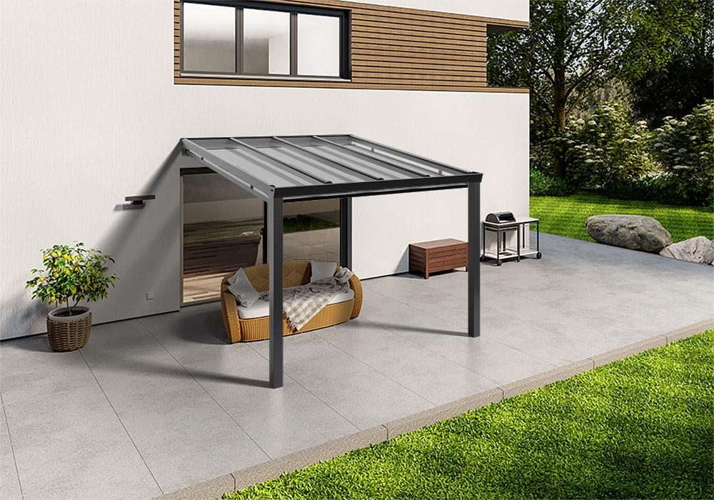 Shop Terassendach anthrazit glas unterdachmarkise 300 200 -