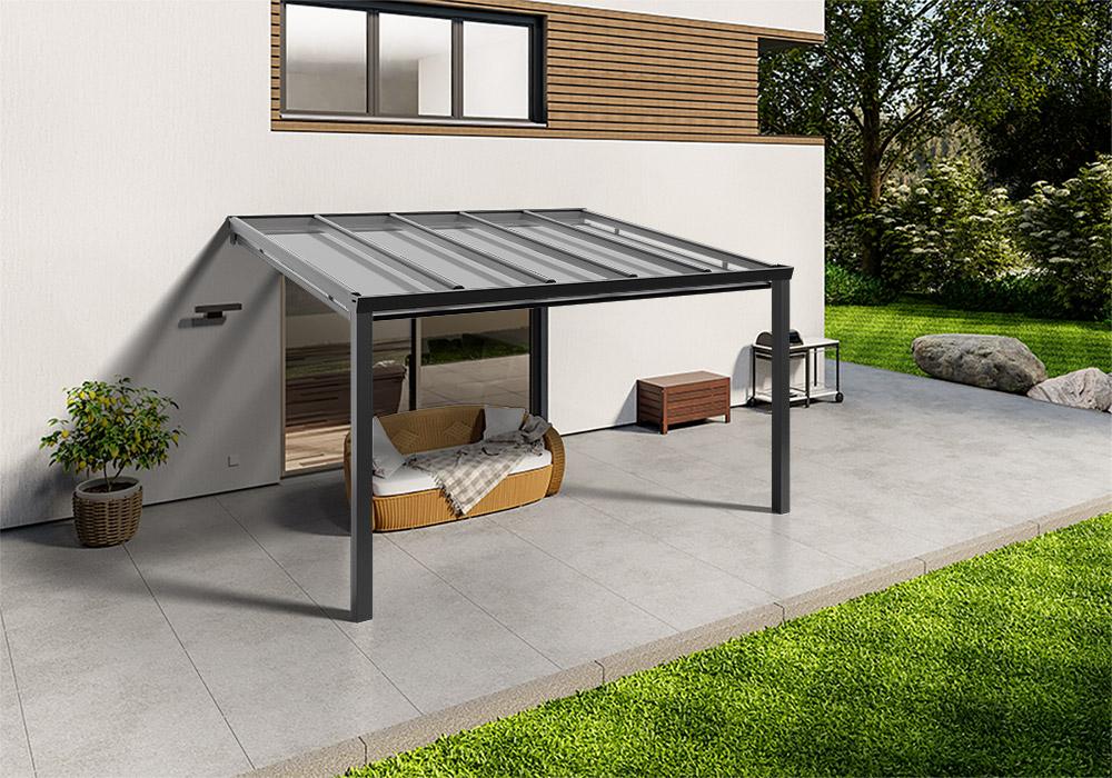 Shop Terassendach anthrazit glas unterdachmarkise 400 300 -